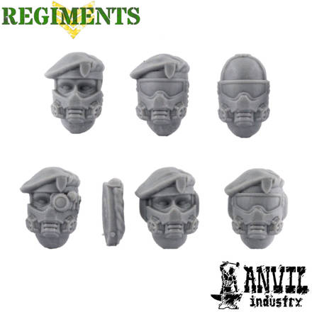 Picture of Beret Veteran Heads with Gasmasks (6)