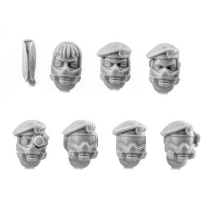 Picture of Female Gasmask Beret Heads (7)