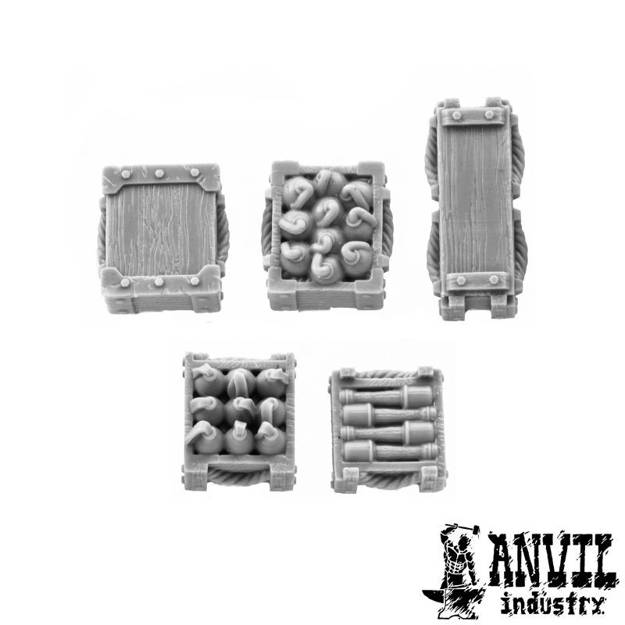 Picture of Wooden Explosive & Ammo Boxes (5)