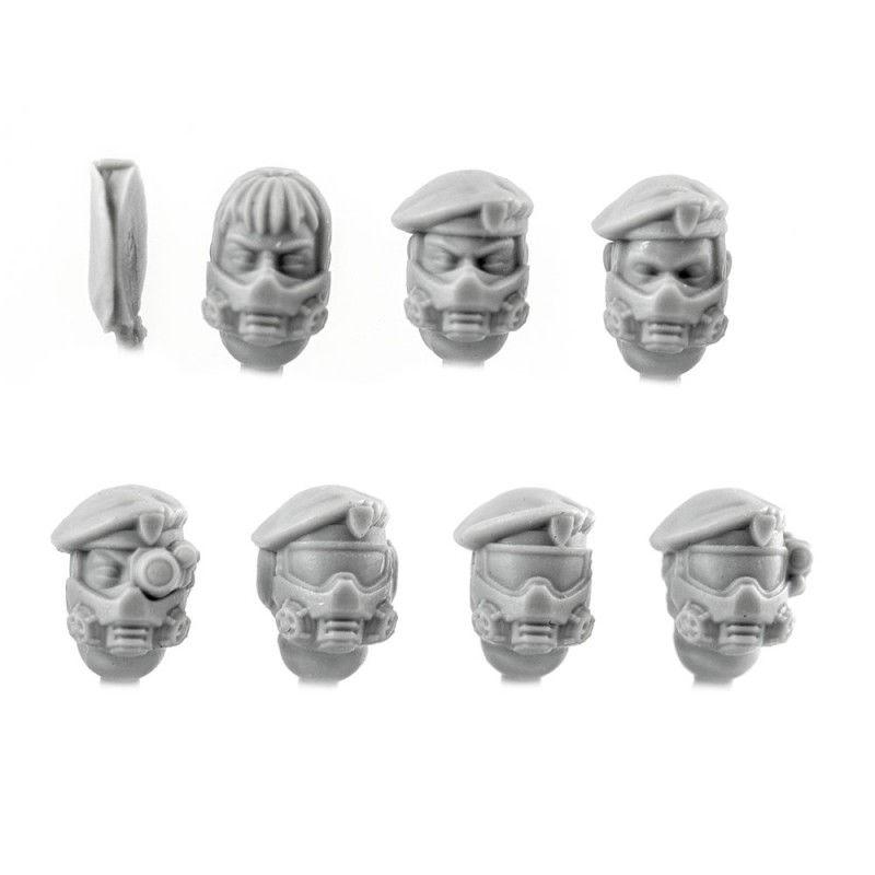 Female Gasmask Beret Heads