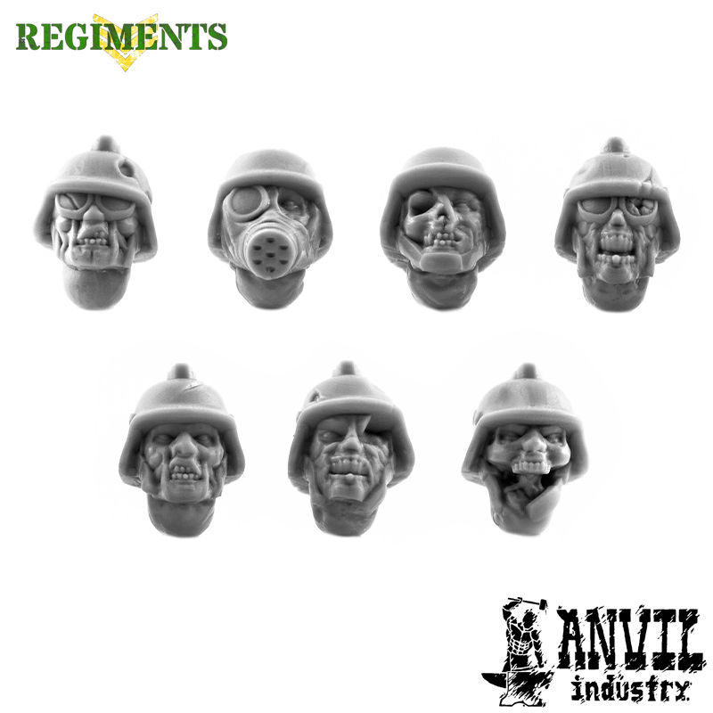Zombie Heads with Stahl Helmets