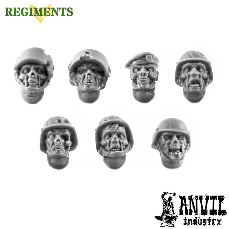 Zombie Modern Military Heads