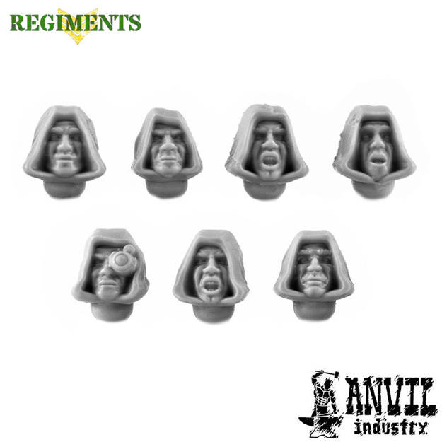 Picture of Hooded Cultist Heads (7)
