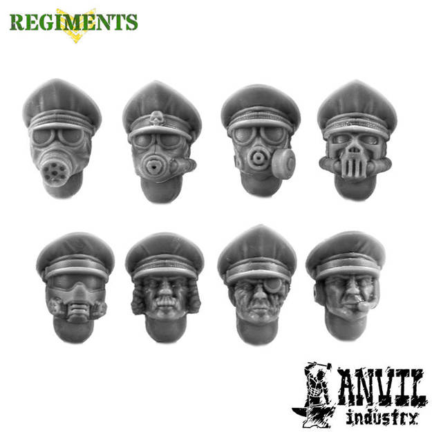 Picture of Trench Officer Heads - Male (8)