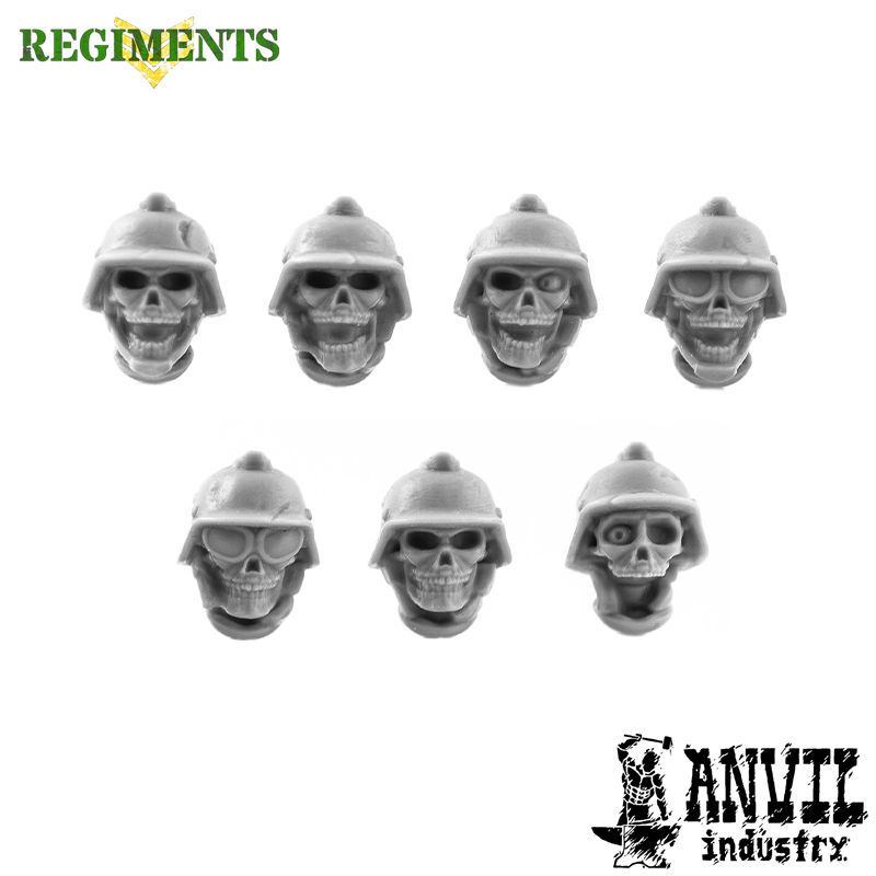 Skulls with Stahl Helmets