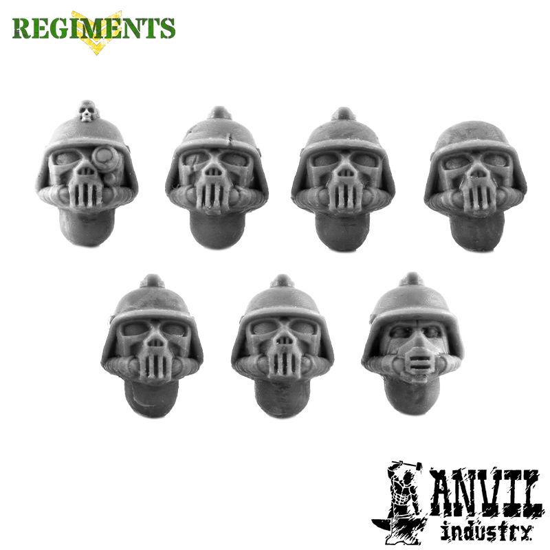 Stahlhelm with Death Masks