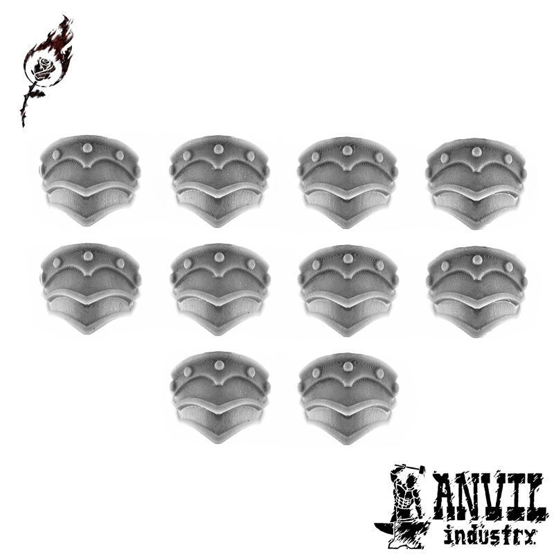 Gothic Banded Pauldrons (5 Pairs) [+$1.37]
