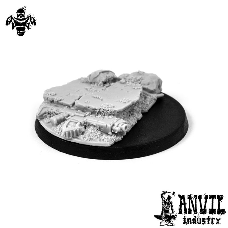 Broken Concrete - 40mm Character Base Topper (1) [+$2.61]