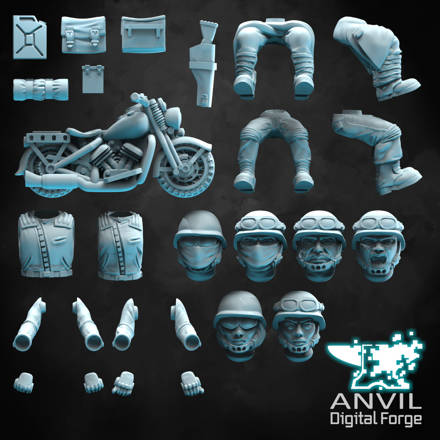 Picture of Digital - Bikers and 1940s Bike Pack