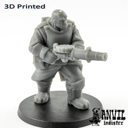Picture of 3D Print (SLA) - Armoured Trencher Ogre (Bare Head)