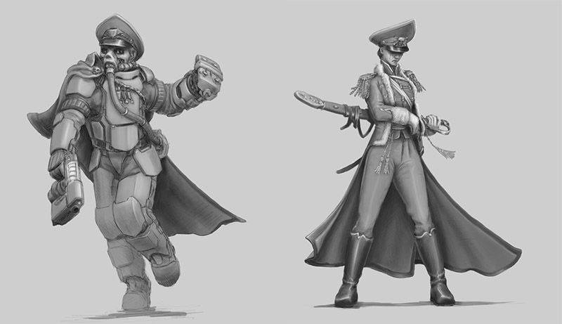Regiments Commissar Concept Art