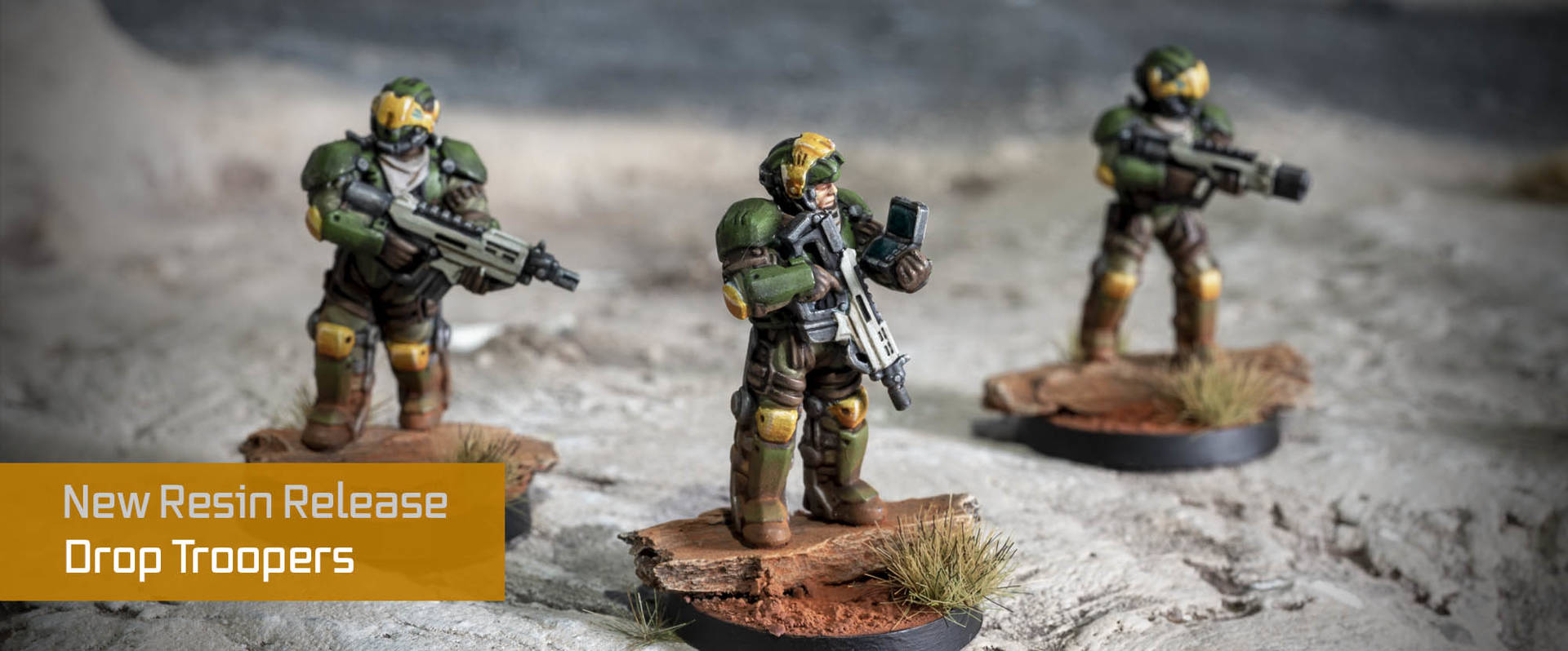 High-Tech Drop Trooper Wargaming Miniatures