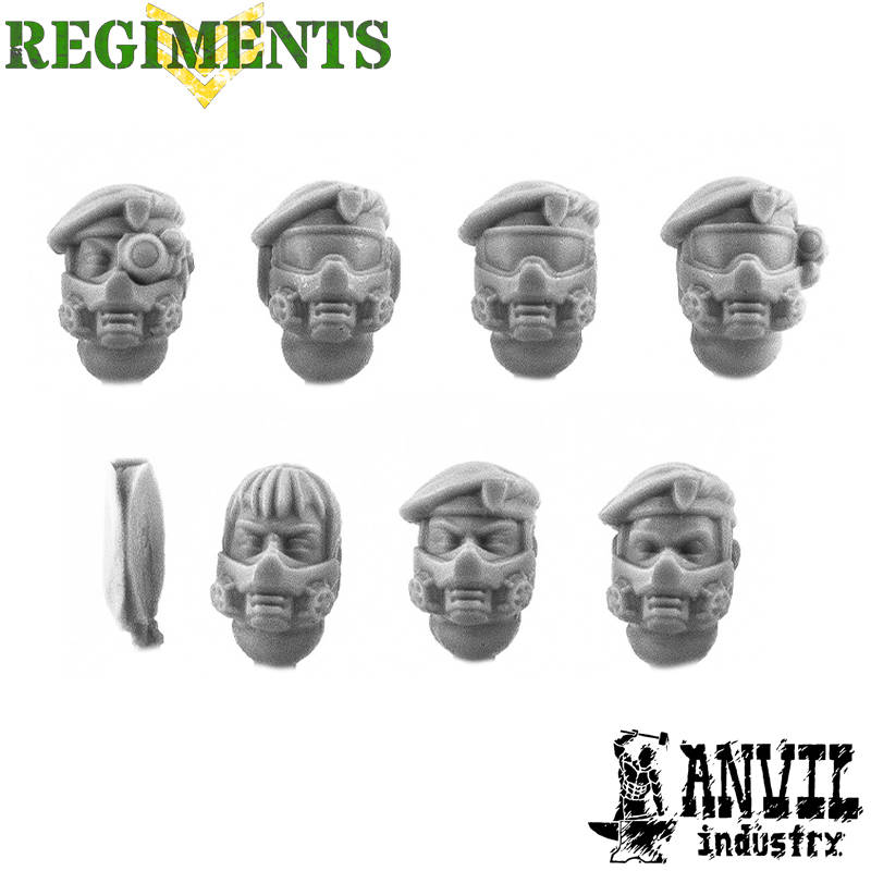 Beret Veterans with Gasmasks (female)