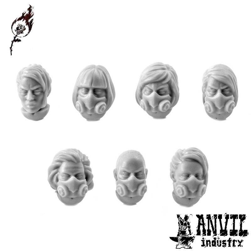 Gasmask Heads (female)