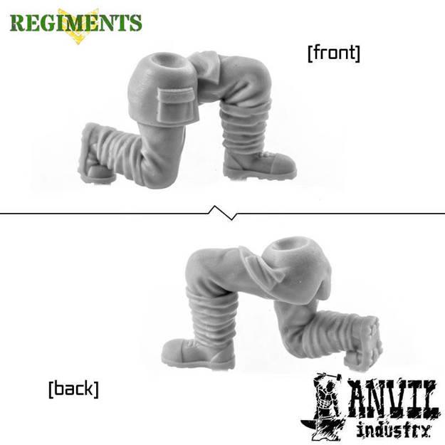 Picture of Female Puttee Wrap Legs - Kneeling (1)