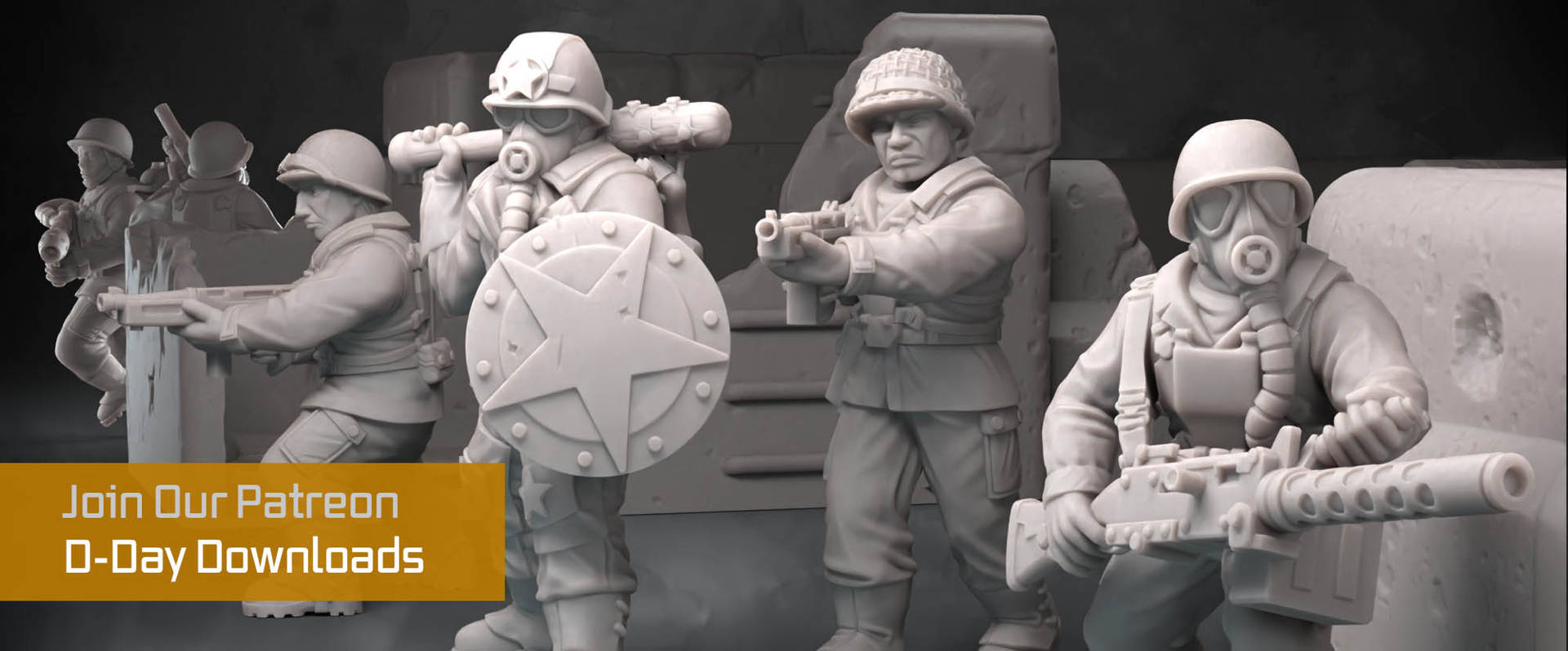 D-Day Miniatures for Home 3d Printing On the Anvil Digital Forge Patreon