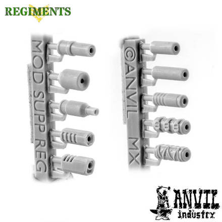 Picture of Mixed Modern Suppressors (10) - Regiments Scale