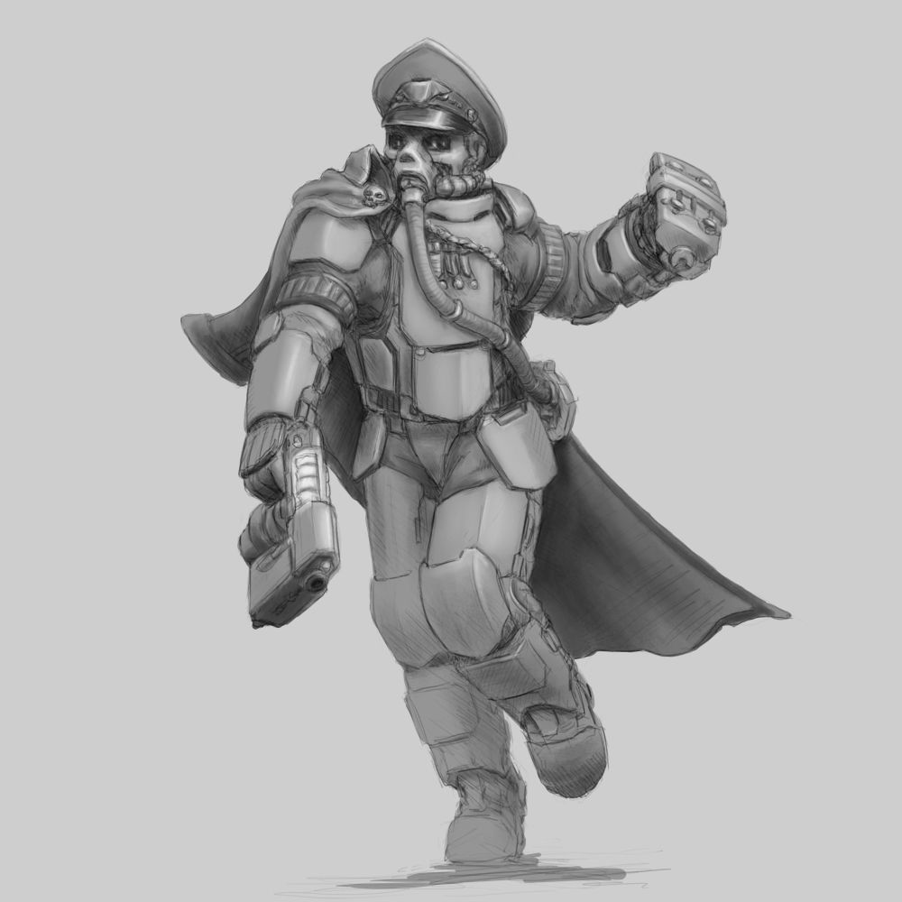 Armoured Commissar Concept Art Wargamming